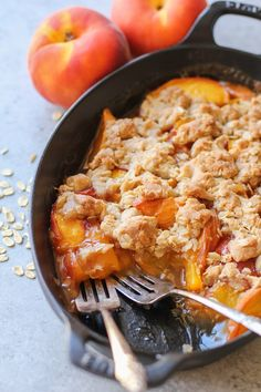 Gluten-free and vegan peach crisp made with Bob's Red Mill's gluten-free 1-to-1 Baking Flour, oats, and pure maple syrup. A simple-to-prepare summer dessert that can 200% be eaten for b…