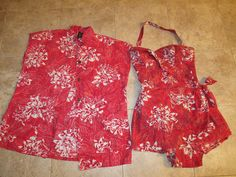 VINTAGE Alfred Shaheen Sarong Hawaiian SWIMSUIT HAWAII ROMPER BATHING BOMBSHELL