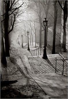 Brassai, Stairway in Paris.