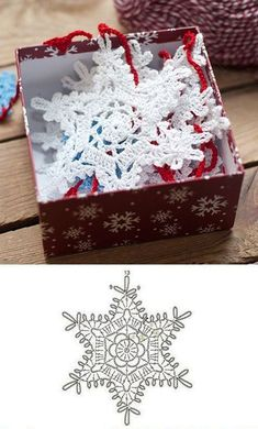 Crochet White Snowflake Tree Ornaments Christmas Snowflakes Set Of 6 Ornaments Hand Crochet Snowflake Tree Decoration Winter Wedding Decor Crochet Snowflake Pattern, Christmas Crochet Patterns, Holiday Crochet, Crochet Snowflakes, Christmas Knitting, Crochet Home, Crochet Crafts, Snowflake Garland, White Snowflake