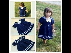 """(1280) Learn How To Crochet """"The Sassy Lil' Sailor Dress"""" Toddler Dress TUTORIAL #403 - YouTube"""