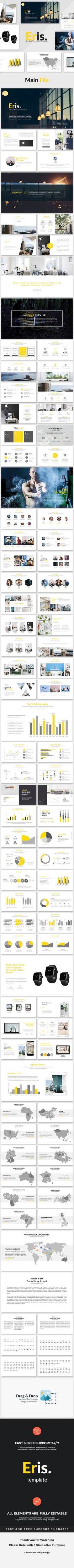 Eris - Creative Powerpoint Template  #marketing #clean • Download ➝ https://graphicriver.net/item/eris-creative-powerpoint-template/18138869?ref=pxcr