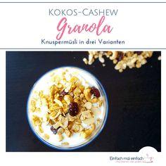 Granola Müsli lässt sich ganz leicht selber machen, ist gesund und, einmal vorbereitet, liefert es ein schnelles Frühstück. Dieses Rezept für ein unglaublich aromatisches Knuspermüsli ist nicht nur vegan, sondern kann auch zuckerfrei und in drei Varianten hergestellt werden.