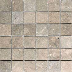 "Parvatile Sea Grass 2"" x 2"" Stone Mosaic Tile Honed"