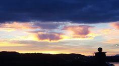 Utsikt i soloppgang