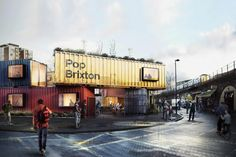 the project will provide the south london district with new public space, alongside live/work units and retail outlets.
