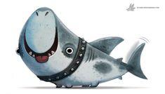 Daily Painting 909# Land Shark , Piper Thibodeau on ArtStation at https://www.artstation.com/artwork/yDQ6R