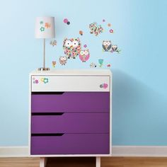 Dotty Hippo - Prisma Owls and Butterflies Wall Stickers - Roommates, £13.00 (http://www.dottyhippo.co.uk/prisma-owls-and-butterflies-wall-stickers-roommates/)