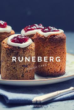 Runeberg Törtchen, finnische Törtchen (Runeberg Cake, finish cake) by lunchforone