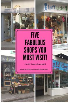 Five Fabulous Shops You Must Visit - In St Ives, Cornwall. After a recent family holiday I thought it might be nice to share my favourite shops shops Working Mums, Uk Holidays, St Ives, Family Holiday, House Party, Parenting Advice, You Must, Baby Care, Cornwall