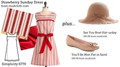 (via Make This Look: Strawberry Sunday Dress | The Sew Weekly - Sewing & Vintage Lifestyle)