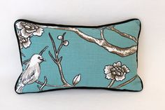 Dwell Studio Lumbar Pillow Cover in Bird by ThePillowStudioShop, $55.00