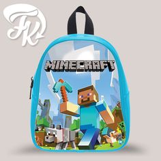 Minecraft Inspired Kid School Bag Backpacks for Child Minecraft Backpack cb68ad78aa68d