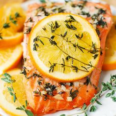 Orange Rosemary-Thyme Salmon