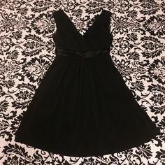 Reduced! Little black dress w/ silk middle . David's Bridal Dresses