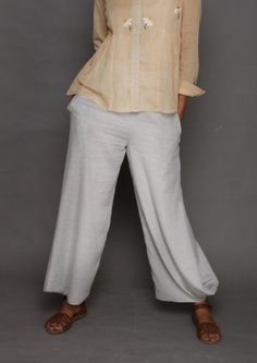 65a603c8ad Grey Cowl Cotton Pants Cotton Pants