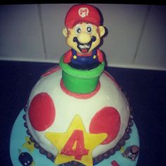 super mario, cupcake, birthday cake