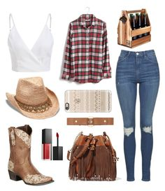 """""""Boots N Hearts"""" by katiestjean on Polyvore featuring Lane, Topshop, Madewell, Marni, Gottex, Diane Von Furstenberg, Smashbox and Casetify"""