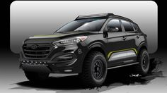 Check out the 2016 Hyundai Tucson off-roader crawling to SEMA.  #sema #hyundai #offroad
