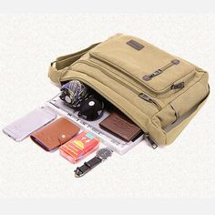 Men Canvas Messenger Bag Casual Outdoor Crossbody Bag Fishing Bag Shoulder Bag is hot-sale, many other cheap crossbody bags on sale for men are provided on NewChic. Mens Canvas Messenger Bag, Cheap Crossbody Bags, Fish In A Bag, Pocket Cards, Casual Bags, Online Bags, Bag Sale, Shoulder Bag, Sport