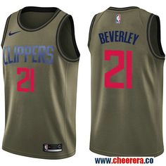 1c79761e07c Men s Nike Los Angeles Clippers  21 Patrick Beverley Green Salute to Service  NBA Swingman Jersey