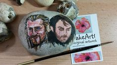 Some progress on Fili and Kili. X #wip #pagepal #handcrafteduniquely #thehobbit #hobbit #paintedstones #paintedpebbles #painting #originalart #artistofinstagram #instagramartist