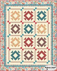 Chelsea Free Quilt Pattern by Quilting Treasures...Please enjoy the following free pattern available to download, courtesy of the fabric manufacturer. Want a free pattern every week?  Sign-up  for our newsletter!  A new pattern is provided in our weekly newsletter.