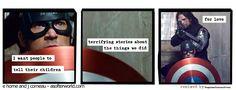 A Softer Avenger: Photo Steve Rogers Bucky Barnes, Bucky And Steve, Captain America And Bucky, Captain Marvel, Marvel Funny, Marvel Movies, Marvel Characters, Marvel Heroes, Marvel Avengers
