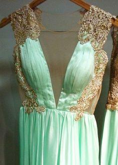 Mint gown / patricia bonaldi