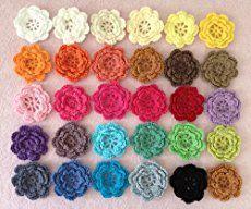 Crochet Flower Valance Curtain Free Pattern: Spring crochet flower home decoration, flower curtain, flower table runner