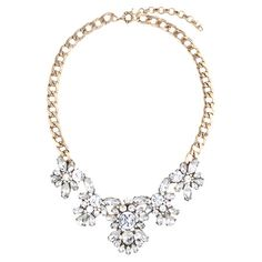 Add a pop of style to evening ensembles and work outfits alike with this stunning gold-plated necklace, showcasing a chain design and rhinestone details.