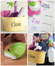 DIY natural kids cleaning kit