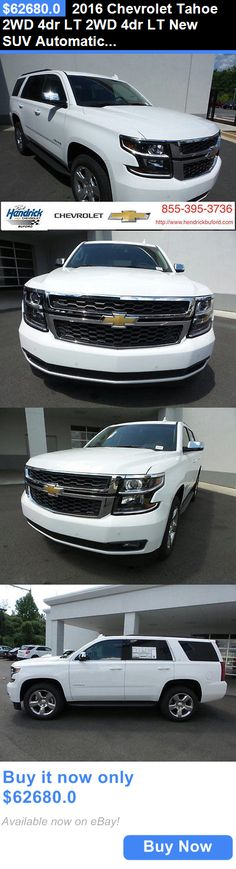 SUVs: 2016 Chevrolet Tahoe 2Wd 4Dr Lt 2Wd 4Dr Lt New Suv Automatic Summit White BUY IT NOW ONLY: $62680.0