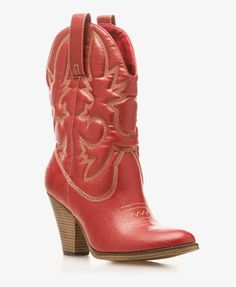 These red cowboy boots remind me of Footloose! They are so adorable!