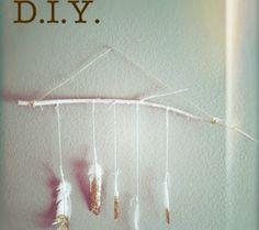 Feather Your Nursery // Fantastic Ideas For a Feather-Inspired Nursery >> via Disney Baby