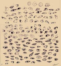 Sketches - Cartoon eyes by *Autlaw on deviantART