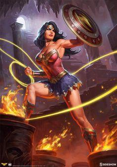 Wonder Woman by Ian MacDonald - DC Comics. Joker Comic, Comic Art, Dc Comic Books, Vintage Comic Books, Comic Book Artists, Comic Book Heroines, Wonder Woman Kunst, Wonder Woman Art, Wonder Woman Comic