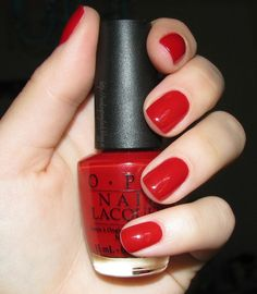 My absolute favorite polish color for a pedicure. !!!! OPI Vodka & Caviar - classic true red