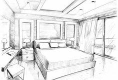 54 Ideas Bedroom Interior Design Sketch Beds - MY World Interior Design Sketches, Interior Design Services, Luxury Homes Interior, Best Interior, Natural Interior, French Interior, Cafe Interior, Scandinavian Interior, Modern Bedroom Design