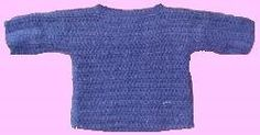 World's Easiest Sweater  By: Suzy Rigby by The Velvet Pumpkin           Who knew the World's Easiest Sweater would be so affordable--and with a free pattern! You can crochet a number of variations of this simple crochet sweater