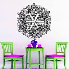 Unique Mandala Pattern Wall Sticker Indian Home Decor Vinyl Art Murals Wall Decals Hollow Out