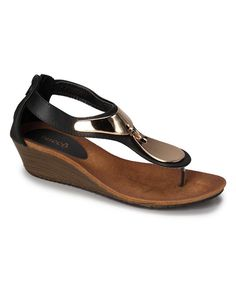 Look at this Black Demure Sandal on #zulily today!