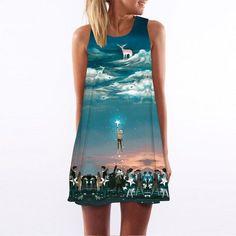 Women's Dress Chiffon Dress Floral Print Sleeveless Summer Dress
