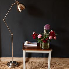 Our Astaire floor lamp is a magnificent solid brass task light, finished in a classy antiqued silver