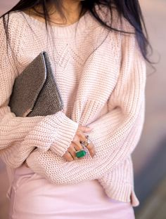Pink cosy sweater
