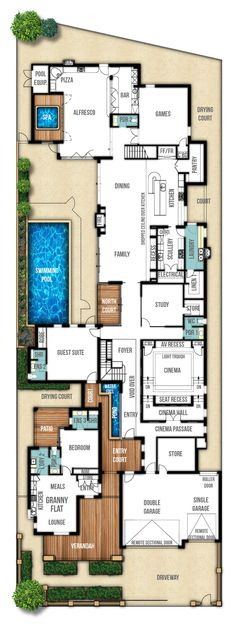 two storey house designs featuring separate granny flat