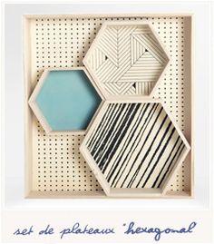 * Hexagonal trays