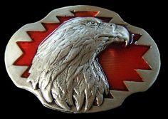 Eagle Falcon Bird Wildlife Belt Buckle  #CoolBuckles #eagle #eaglehead #beltbuckle