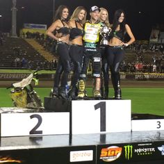 Monster Energy Girls NZ - #HBelite  #NZSGP Podium with Martin Smolinski Jess, Zeisha, Grace, Holly info@HBelite.com