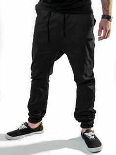 Calça Jogger Mustachi Masculina Sarja Preto